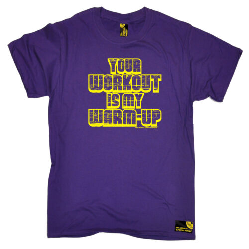 Your Workout Is My Warmup Yellow MENS SWPS T-SHIRT birthday workout training