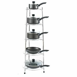 chrome kitchen storage racks chrome five tier kitchen pan stand saucepan pot rack 5421