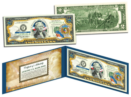 MISSISSIPPI Statehood $2 Two-Dollar Colorized U.S Bill MS State *Legal Tender*
