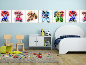 Transformers Science Fiction Wallpaper Border Self Adhesive Children Bedroom 127 Ebay