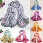 Fashion Women Girls Soft Silk Chiffon Wrap Shawl Scarves Beach Long Neck Scarf