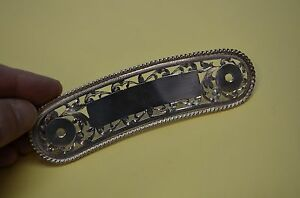 Fancy Show STERLING SILVER Hand Cut Filigree Horse Saddle Cantle Plate ROPE EDGE