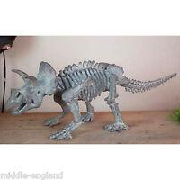 Triceratops Dinosaur Skeleton 70cm Resin Fossil Sculpture Model Ornament