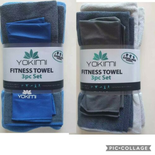 Gym Exercise Quick Dry Microfibre Towel Drying Yokimi 3x Cooling Towel Set