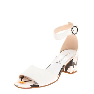 RRP €190 LORETTA By LORETTA Leather Ankle Strap Sandals Size 39 UK 6 US 9 Floral