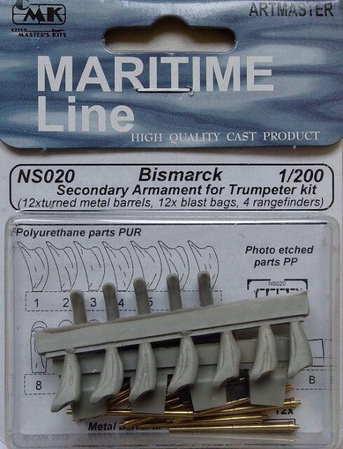 CMK NS020 Resin 1/200 Bismark Secondary Armament set Trumpeter