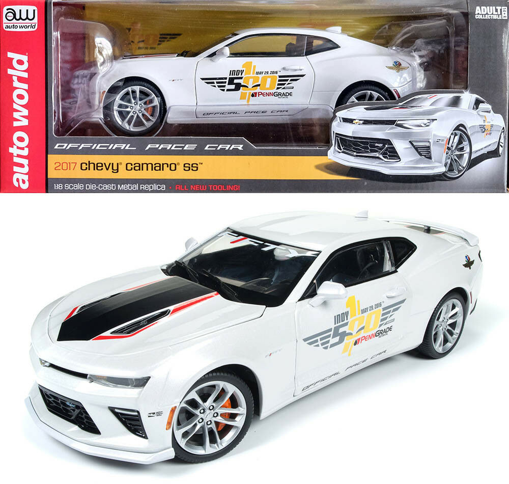 2017 Chevy Camaro SS Indy 500 pace car CHEVROLET 1:18 AUTO World ERTL aw236