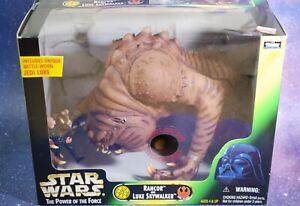 NEW Star Wars Rancor Monster & Luke Skywalker figures Power of the Force Kenner