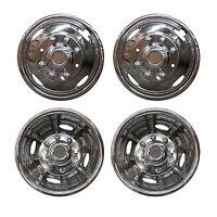 4pcs 17 Dually Steel Wheel Simulators 8 Lug 4 Hand Hole Skins Liners Covers R17