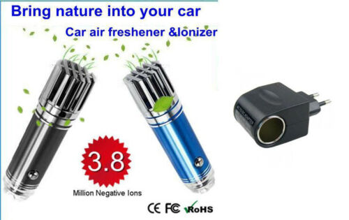 MINI AUTO 12V AIR PURIFIER IONIZER IONIC AIR PURIFIER OXYGEN BAR BLUE COLOR