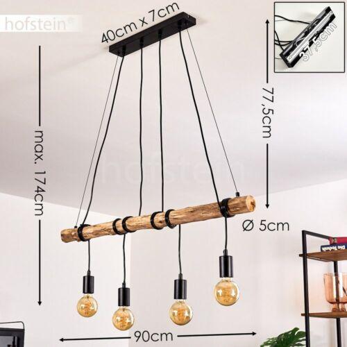 Vintage Pendel Hänge Lampen Holz//Schwarz Schlaf Wohn Ess Zimmer Raum Beleuchtung