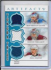 12-13 Artifacts Giguere/Varlamov/Stastny Tundra Trios Blue Triple Jersey