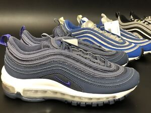 nike air max 97 (gs) tuono blu / persiano violet dimensioni uk3 /