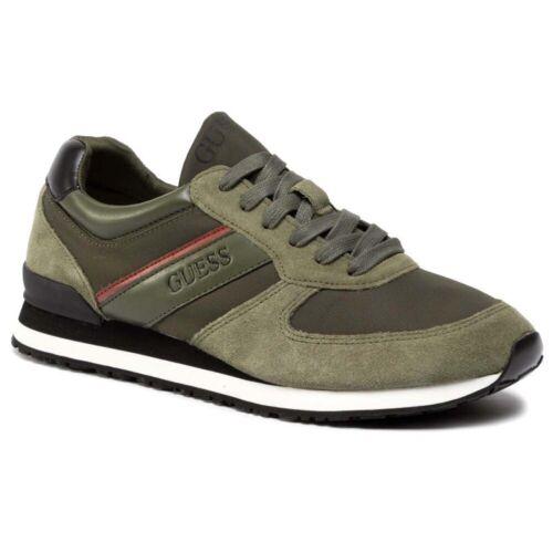 Sneaker Mann Guess Charlie Runner Logo Veloursleder Leather Military