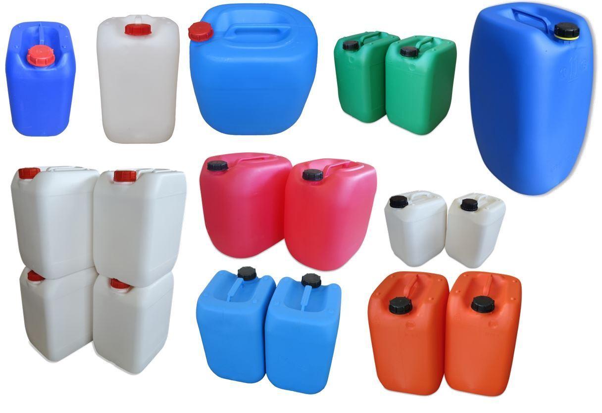 Gebrauchte Kunststoffkanister Kanister 10 20 25 30 60 Liter blau rot grün
