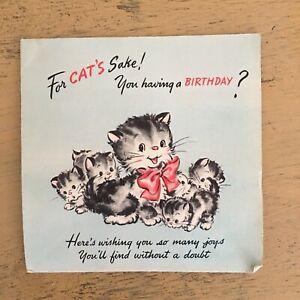 Image Is Loading Vintage Hallmark Kitten Pop Up Birthday Card Kitty