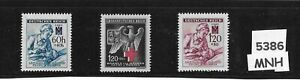 MNH-stamp-set-Red-Cross-Nurse-amp-Patient-WWII-Third-Reich-Occupation-BaM-1940s