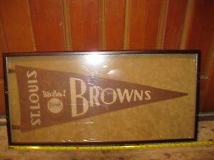 1930-039-s-St-Louis-Browns-Pennant-Framed