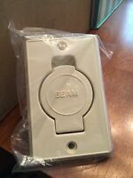 In Original Packaging-beam Central Vacuum Inlet Face Plate - Bisque