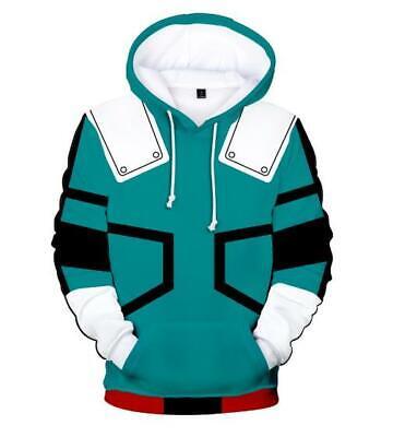 My Hero Academia Anime Kapuzen Sweatshirt Langarm T-shirt Hoodie Pullover Pulli Offensichtlicher Effekt