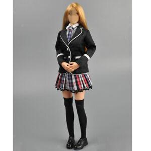 1//6 Shirt Red Plaid Skirt Schoolgirl Uniform for 12/'/' Phicen Kumik Female