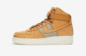 Authentic-New-Nike-Air-Force-1-HI-07-PRM-Men-Size-UK-8-10-Wheat-Khaki