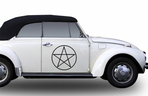 Pentagram Aufkleber Autoaufkleber Weiße Hand Stern Auto Farbwahl 40 cm Schutz