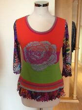 Olivier Philips Top Size 14 BNWT Orange Pink Green Silver RRP £120 Now £54