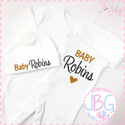 Hat Shower Clothing Personalised Baby Vest Set Embroidered Gift Gift