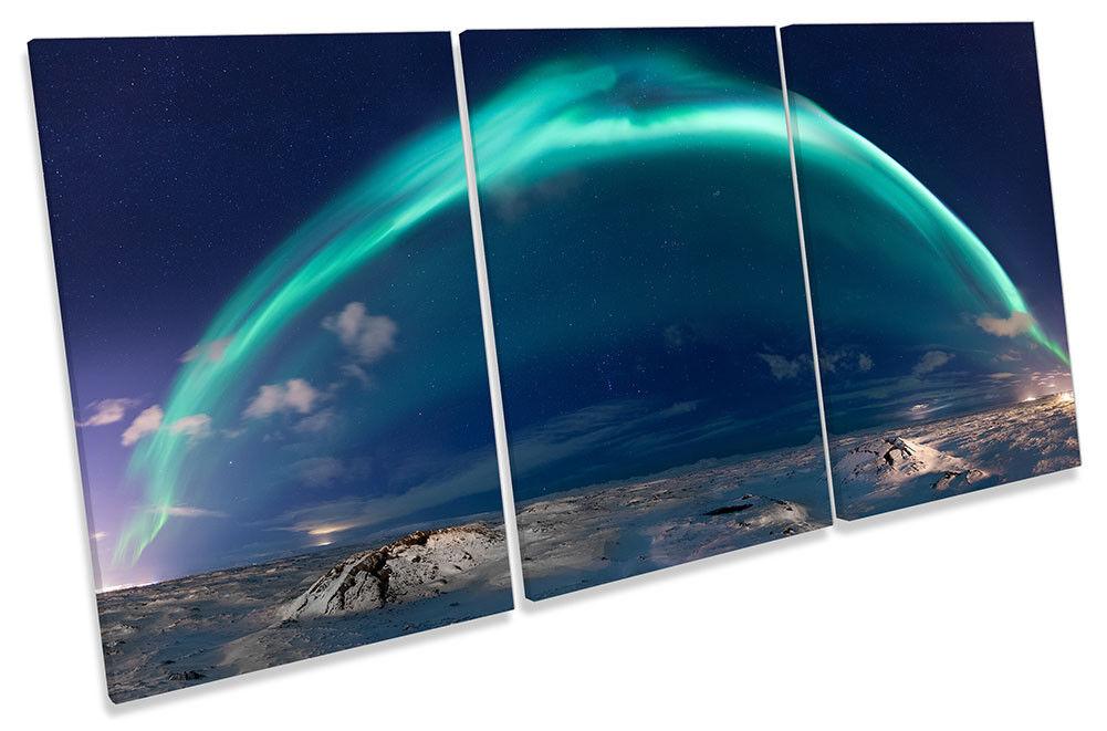 Northern Lights espacio LONA pared arte Foto impresión de agudos agudos agudos bc43c4