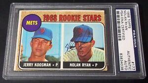 HOF PSA DNA Rc Nolan Ryan Auto 1968 Topps #177 Rookie Signed On Card Autograph