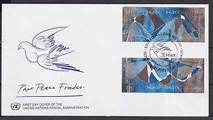 UNO-New-York-1993-Zusammendrucke-8-FDC-von-MiNr-653-656