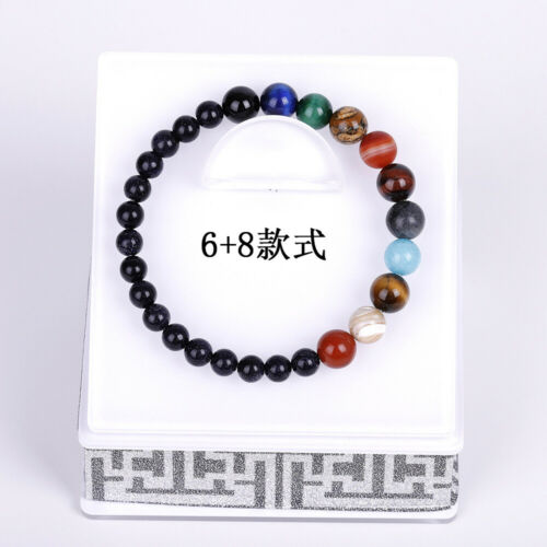 Bracelet Galaxy système solaire huit planètes thème Pierre naturelle Perles Bracelets