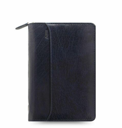 Filofax Personal Organizer A6 Leder Lockwood Navy Blau ZIP Terminplaner 026111