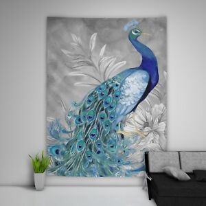 Details About Painting Peacock Tapestry Art Wall Hanging Sofa Table Bed Cover Home Decor