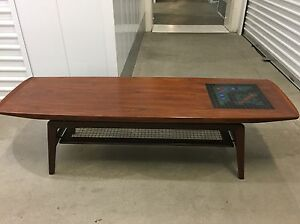 Details About Finn Juhl Mid Century Modern Coffee Table With Mosaic Inlay