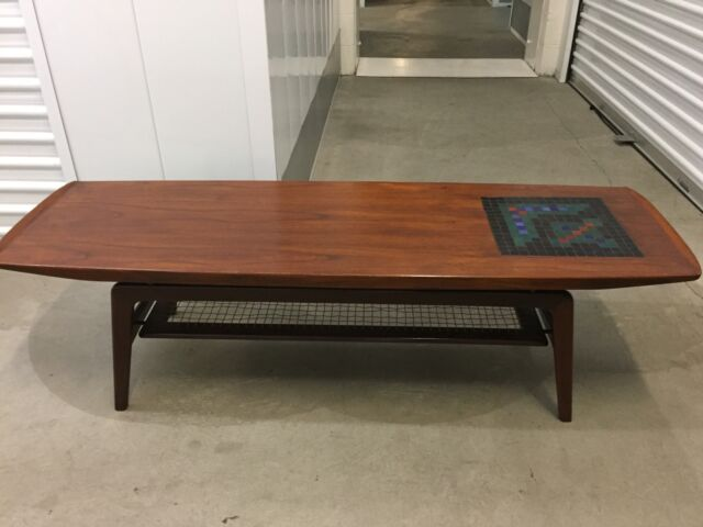 French Modern Mid Century Atomic Inlay Coffee Table EBay - Cheap mid century modern coffee table