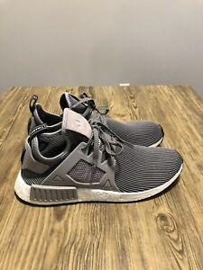 328046726a3c7 Adidas NMD XR1 Primeknit PK Nomad Boost Light Grey Vintage White ...