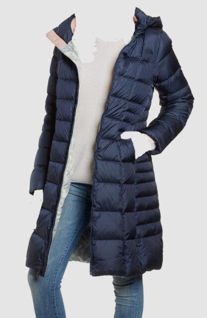 The North Face Women/'s Metropolis Hooded Parka 2 Long Jacket Urban Navy S