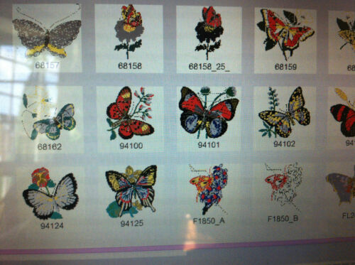 BUTTERFLY EMBROIDERY DESIGNS  FOR BROTHER MACHINE PES FORMAT 110 DESIGNS