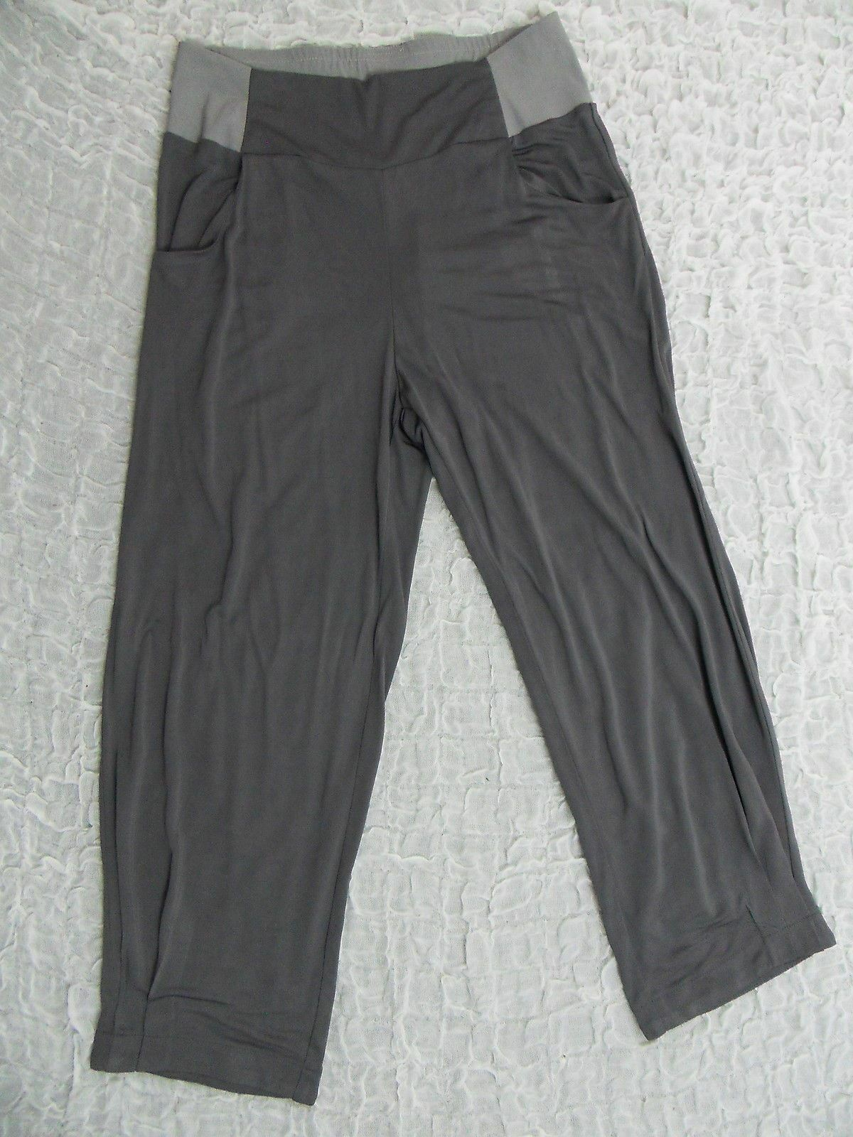 THE ARK charcoal grey cropped harem designer pants size S MADE IN AUSTRALIA BNWT