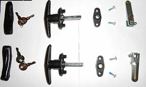 Image is loading Truck-Cap-Topper-T-Handles-Locks-K127-Handles- & Truck CapTopper T-Handles Locks K127 Handles Camper Top With ...
