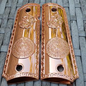 Details about 1911 Grips For Kimber / Colt / ROCK ISLAND Frames Aztec Rose  Gold Screws Include