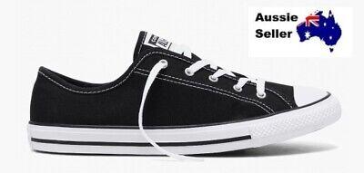 NEW Converse WOMENS CHUCK TAYLOR ALL STAR OX (LOW) DAINTY CANVAS BLACK 564982 | eBay
