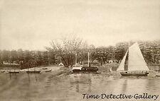 Sacramento Riverfront in 1848, Sacramento, California - Historic Photo Print