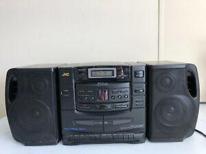 JVC PC-XC30 Boombox Ghetto Blaster 6 CD Changer Dual Tape Deck Dubbing HiFi