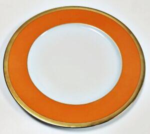 Haviland-Laque-De-Chine-Gold-Rim-Mandarine-Salad-Dessert-Plate-8-5-8-034-D