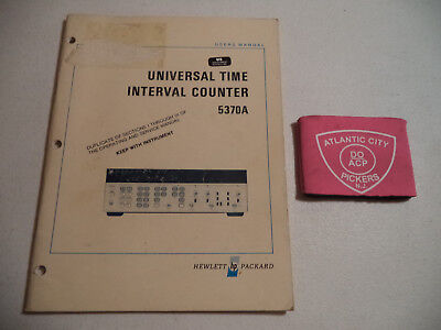 Test, Measurement & Inspection HP 5370A UNIVERSAL TIME INTERVAL ...