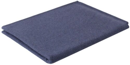 "Navy Blue Military Virgin Wool Winter Blanket 62/"" x 80/"" Rothco 10231"