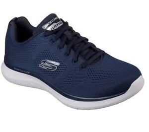 52389-Navy-Skechers-Scarpe-Uomo-Comfort-Maglia-Sportiva-MEMORY-FOAM-Treno-Camminare-Sneaker